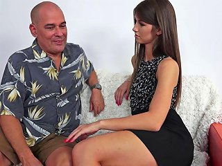 This Sexy Teen Minx Is Addicted To Older Men And Their Stiff Rods