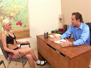 Blonde Schoolgirl Jayden Pierson Having Her Twat Dicked In A Classroom