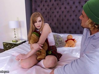 Naughty Schoolgirl Dolly Leigh Getting Banged Hard Doggy Style